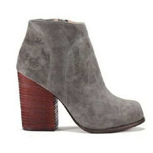 Jeffrey Campbell Grey Suede High Ankle Booties